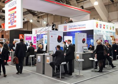 Hessen eGovernment / Digitales Hessen: Standgrafik für Messestand CeBIT 2017 (Standbau Expo Solutions)