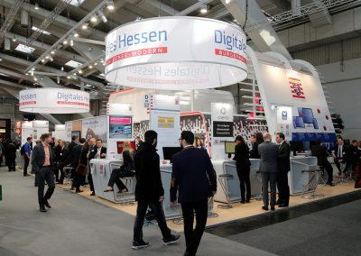 Hessen eGovernment / Digitales Hessen: Standgrafik für Messestand CeBIT 2016