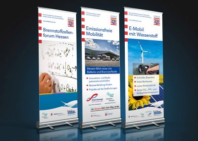 Rollup-Displays H2BZ-Initiative-Hessen