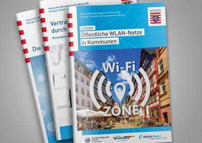 Broschürenreihe Digitales Hessen (Gestaltung zahlreicher Broschüren)