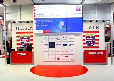 Messestand Hessen-IT, CeBIT (Gestaltung der Standgrafik; Standbau Go Exhibition, Hannover)