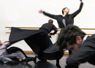Probenfoto Körperstürme (Theaterfotografie Klaus Lefebvre)