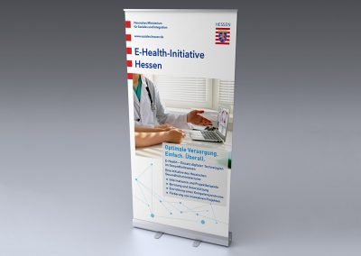 E-Health-Initiative Hessen, Rollup-Display