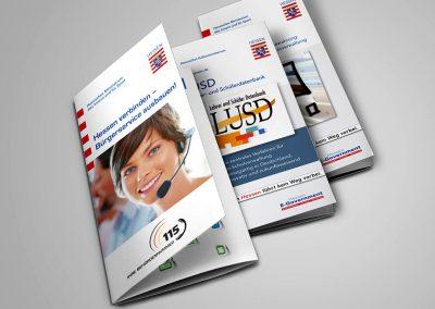 Hessen eGovernment / Digitales Hessen: Flyer (Auswahl)