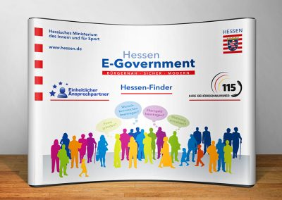 Hessen eGovernment / Digitales Hessen: Display-Stand