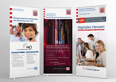 Hessen eGovernment / Digitales Hessen: Rollup-Displays